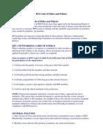 BNI Code of Ethics and Policies BNI