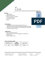 technical datasheet of 5 mm infrared led