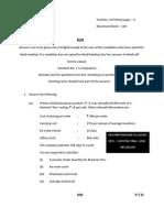 CA-IPCC COST-FM QUESTION PAPER NOV 13