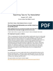 Teaching Tips to Try Newsletter August 16
