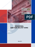 Mengenal Cek dan Bilyet Giro Bank Indonesia