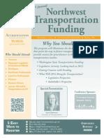 Northwest Transportation Seminar Agenda and Brochure, by NW Seminar