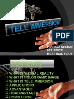 Teleimmersion Main Ppt