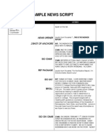 News Script Structure Unmarked