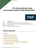 El Vinculo Educativo Bajo Transferencia. Autora Perla Zelmanovich