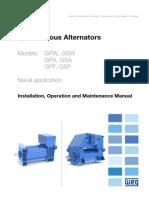 WEG Synchronous Alternators Naval Application 12139384 Manual English