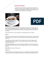Types of Coffee Drinks and Varieties