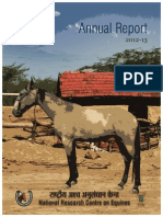 Annual Report 2012-13 of National Research Centre on Equines - Miss Sukanya Kadyan
