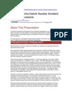 10-10-13 Gunderson Fukushima OngoingLessons