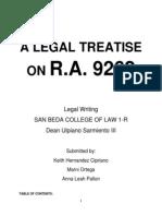 Legal Treatise Ra 9262