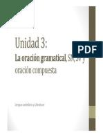 U3. La oración gramatical (I)