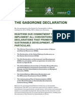 Gaborone Declaration