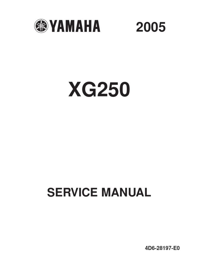 Schema Elettrico Max 250 : Yamaha xg 250 05 service manual clutch ignition system