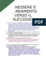 BENESSERE E CAMBIAMENTO VERSO IL SUCCESSO