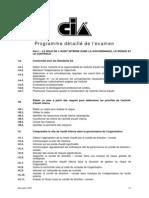 programme détaillé du CIA