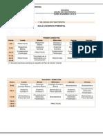 Horario Grado en Fisioterapia 2013-2014