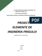 Proiect Instalatii Frigorifice Bun