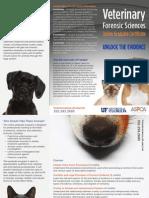 Online graduate certificate in Veterinary Forensic Sciences Brochure - Sukanya Kadyan