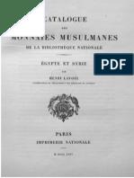 Catalogue des monnaies musulmanes de la Bibliothèque nationale. Égypte et Syrie / publ. à l'ordre du Ministre de l'instruction publique et des beaux-arts par Henry Lavoix