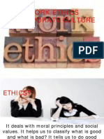 Work Ethics and Corporate Culture
