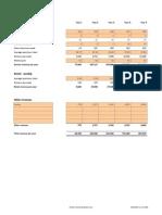 Revenue Projection Template Salon v 1.00