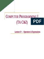 Lect31 Operators Expressions