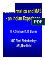 Bioinformatics and MAS