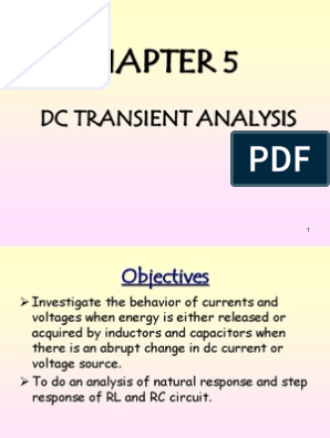 Chapter 5 - DC Transient Analysis | Electrical Network