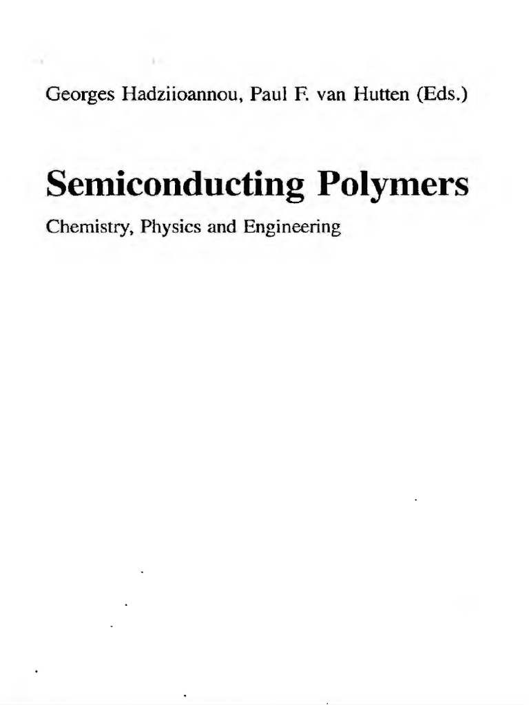 Semiconducting Polymers Semiconductors Polymerization Kau Kan Oil Cooler Wiring Diagram