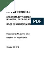 sample metal roof report