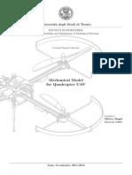 Mechanical Model for Quadcopter UAV