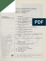 """- Charles PAUTRAT, Bernard HUREZ - Place de la tarification dans la stratégie des Télécommunications - La Jaune et la Rouge"""", n° 416, juin-juillet 1986."""