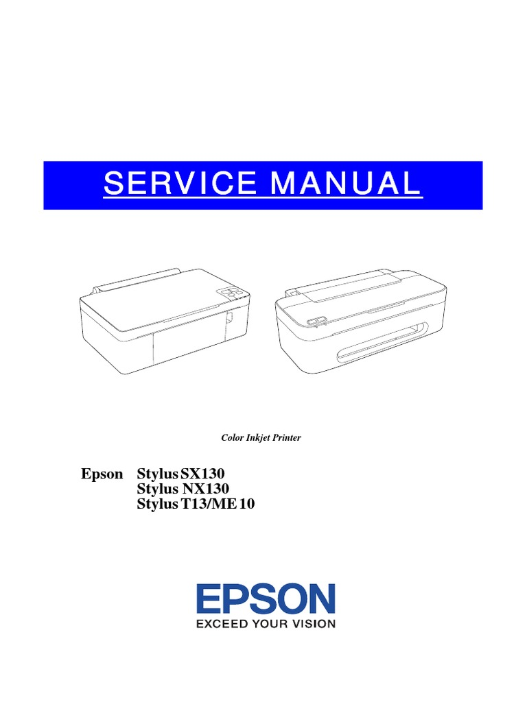 Service Manual Epson Sx130 Sx125 | Housekeeping | Bearing