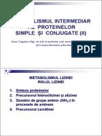 Stomatologie_Met. Intermediar Al Proteinelor (II)
