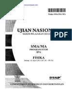 Naskah Soal UN Fisika SMA 2013 Paket 1