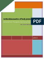Arthrokinematics of Body Joints Final