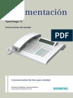 OpenStage 15 HFA xHiPath 4000x Instrucciones de Manejox Edicion 8