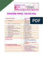 package price 160k