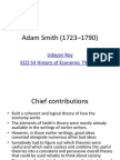 contribution Adam smith