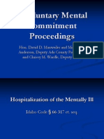 Involuntary Mental Commitment Proceedings