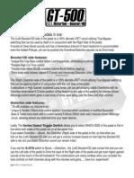 Fulltone Gt500 User Manual 2010