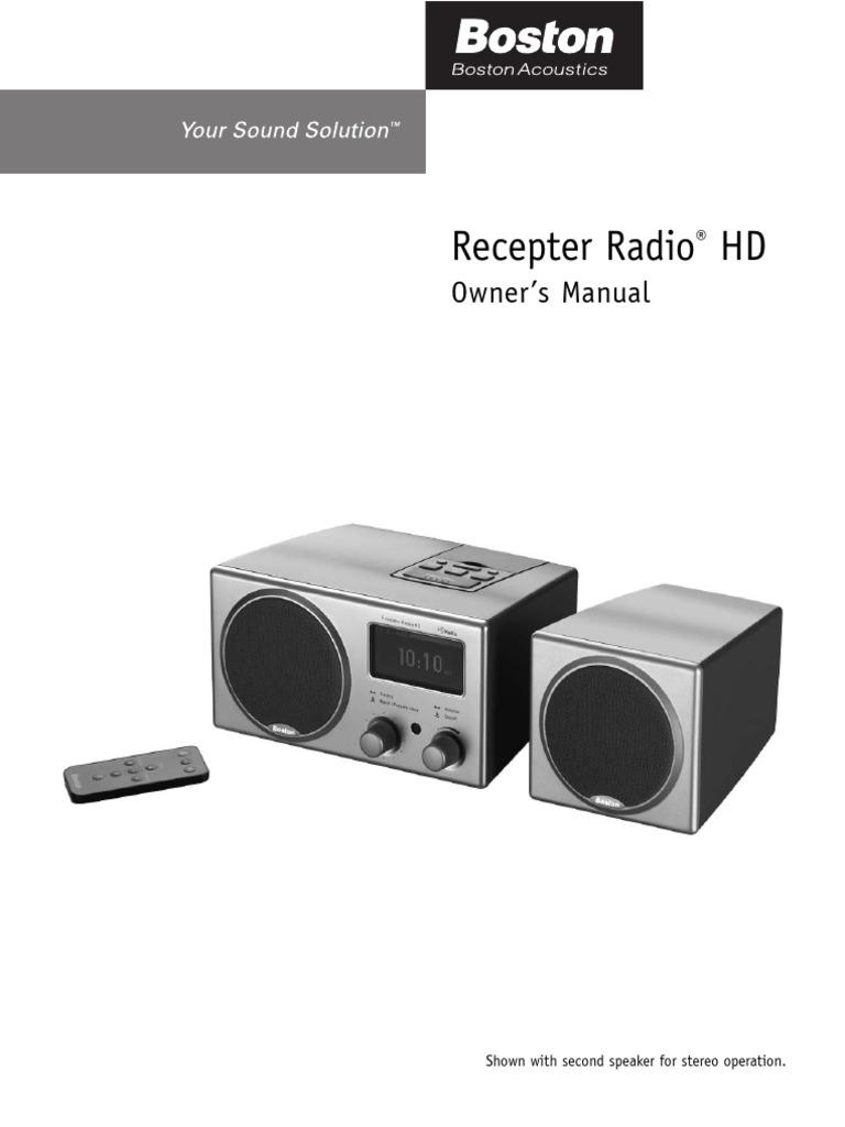 boston acoustics recepter radio hd pdf radio broadcasting radio rh scribd com Boston Acoustics A150 Speakers Boston Acoustics Bookshelf Speakers