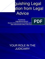 Legal Advice-Legal Information IICM 2011