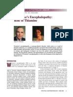 Wernicke Encephalopathy