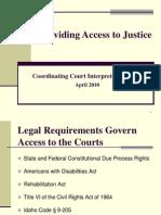 Coordinating Court Interpreter Services a Pr 2010