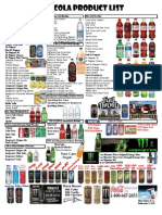 Coca-Cola Product List 2013