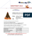 Kerstfeest Flyer 2013