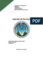 ANÀLISIS DE PELICULA