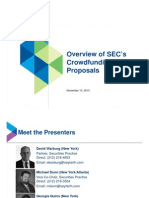 Seyfarth Shaw Overview of SEC's Crowdfunding Proposals