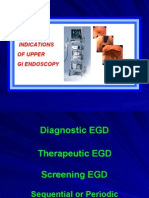 Indications of Upper GI endoscopy